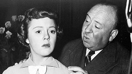 Pat Hitchcock se slavným otcem Alfredem