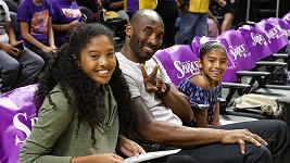 Natalia Bryant se zesnulým otcem Kobem a sestrou Giannou