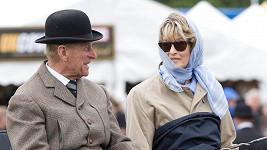 Vévoda z Edinburghu s hraběnkou Penny Brabourne