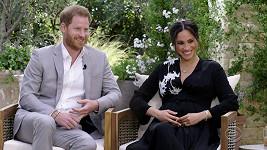 Meghan Markle a princ Harry při rozhovoru s Oprah