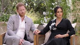 Vévoda a vévodkyně ze Sussexu při rozhovoru s Oprah Winfrey