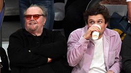 Jack Nicholson se synem Rayem na zápase Lakers