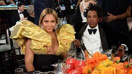 Beyoncé s manželem Jayem-Z na udílení Zlatých glóbů