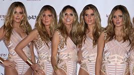 Heidi Klum se svými halloweenskými klony.