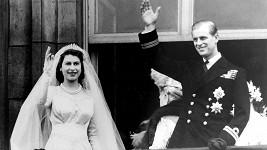 Philip a Alžběta II. po svatbě