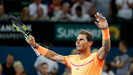 Rafael Nadal na turnaji v Brisbane.