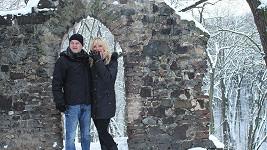 Věra Martinová s přítelem