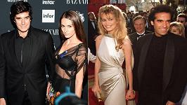 Pro modelky má, zdá se, David slabost (vpravo Claudia Schiffer / vlevo Chloe Gosselin).