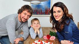 Lucie Křížková s manželem Davidem a synem Davídkem