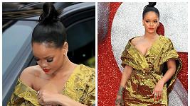 Rihanna měla trochu problémy.