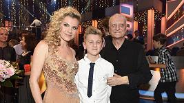 Leona Machálková se synem a zesnulým expartnerem Bořkem Šípkem