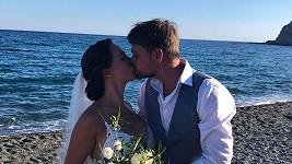 Pepa s Marlene se pochlubili prvním novomanželským polibkem.