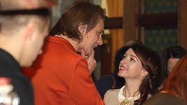 Tatiana Vilhelmová a Vojta Dyk ne premiéře filmu Teorie tygra.