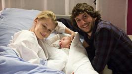 Michaela Sejnová se svou seriálovou rodinou