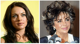 Podoba Lindsay Lohan a Elizabeth Taylor je zřejmá na první pohled.