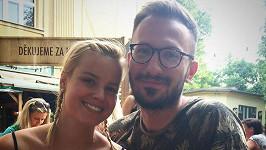 Patricie Solaříková s přítelem Tiborem
