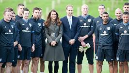 Princ William s Kate a anglickou fotbalovou reprezentací
