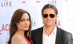 Brad Pitt a Angelina Jolie na premiéře filmu The Tree of Life.