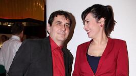 Tereza Kostková s manželem Petrem Kracíkem.