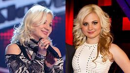 Ivanna Bagová na začátku show a nyní.