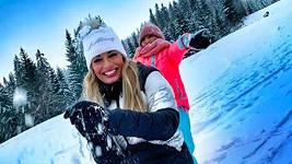 Borhyová si užívala sněhové nadílky.