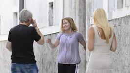 Iveta Bartošová se směje štěstím, Pepa pláče.