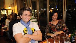 Ondřej Brzobohatý s manželkou Johankou.