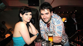Marek Ztracený s přítelkyní na párty pořadu Prominenti