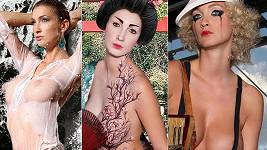 Vnadná Mesarošová coby divoženka, gejša a Pařížanka. Více ve fotogalerii.