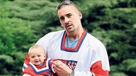 Tomáš Plekanec se synem.