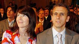 Karel Poborský a jeho žena Marcela