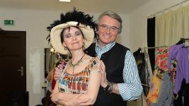 Jana Yngland Hrušková s Vlastou Harapesem