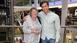 Milan Peroutka se svou milovanou babičkou Aidou
