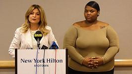 Quantasia Sharpton (vpravo) je další ženou, která kvůli sexu s Usherem podala žalobu.