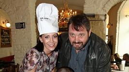 Gábina Partyšová s manželem Pepou Koktou a synem Kristiánem