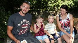 Ondřej Synek s rodinou