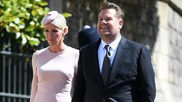 James Corden s manželkou Julií Carey