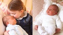 První oficiální snímky prince Louise pořídila vévodkyně Kate.