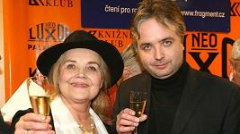 Gabriela Vránová se svým synem Ondřejem Kepkou.