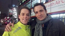 Radim Schwab s představitelem londýnskího Fantoma opery.