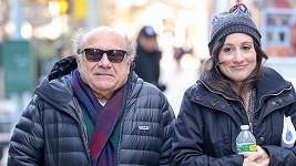Danny DeVito s dcerou Lucy v New Yorku
