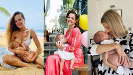 Slavné maminky, které se o kojení baví veřejně.