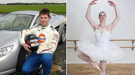 Přes deset let býval James ostříleným automobilovým závodníkem. Dnes je baletkou Sophií