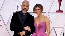 Halle Berry a Van Hunt na udílení Oscarů