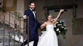 Šťastní novomanželé Michelle Hunziker a Tomaso Trussardi.