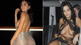 Vlevo snímek z jejího Instagramu, vpravo dílo paparazzi. Leccos společného ale obě fotky mají.