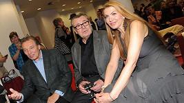 Díky Martině se přítelí i její manžel Miloš Forman s exmilencem Karlem Gottem