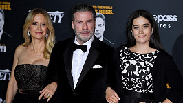 Travolta s manželkou Kelly Preston a dcerou Ellou