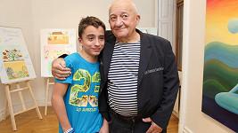 Zděněk Srstka s vnukem