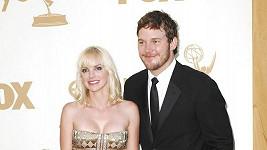 Anna Faris s manželem Chrisem Prattem.